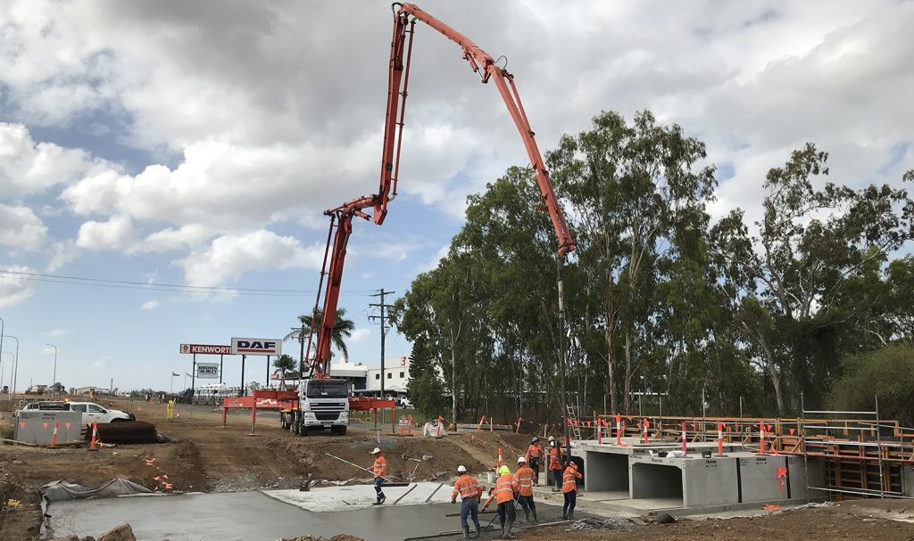 DAF truck with concrete pump