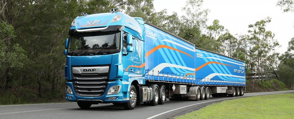 DAF truck with modle release branding